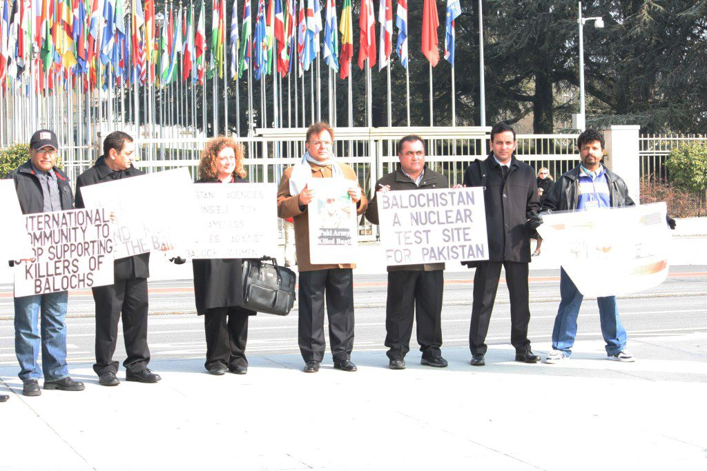 UNPO and The Balochistan Community protest in Geneva urging the International Community To Intervene In The Worsening Human Rights Situation In Balochistan