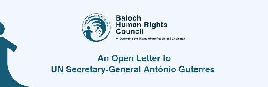 An Open Letter to  UN Secretary-General AntónioGuterres