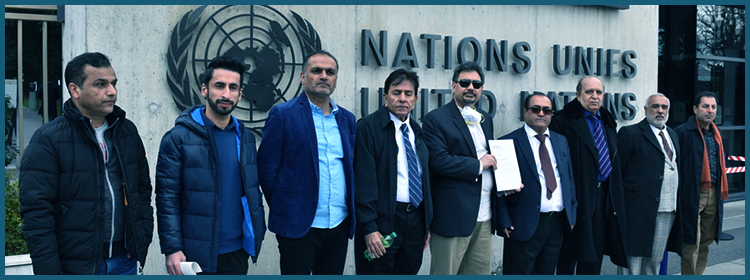 BHRC submits a memorandum on Balochistan to the UN High commissioner for Human Rights following a protest in Geneva
