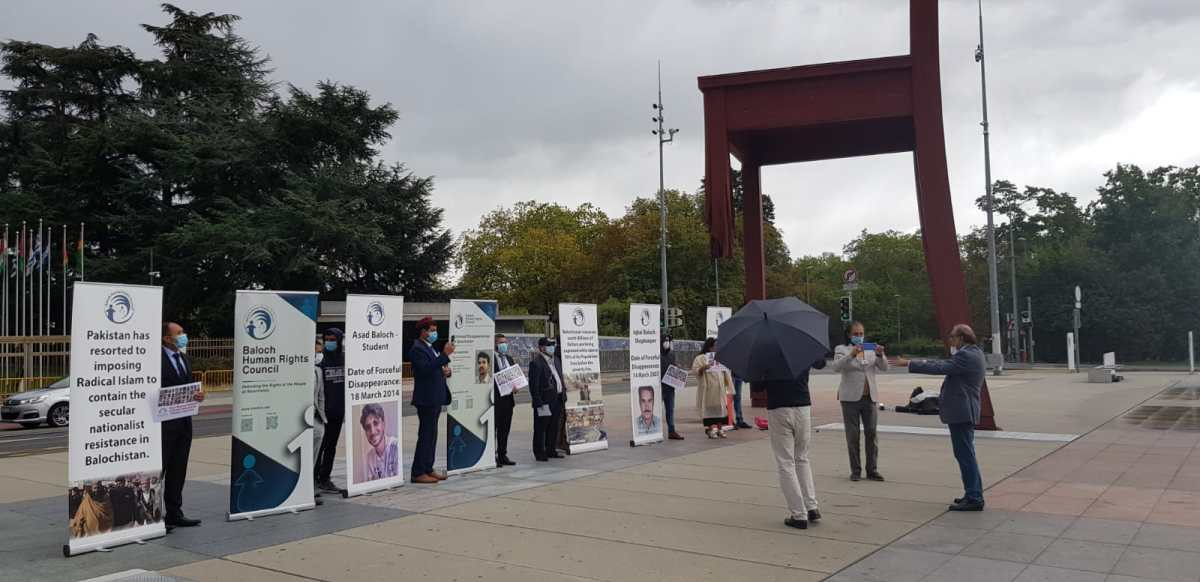 BHRC & WSC protest outside UN building against Pakistan's human rights violations in Balochistan & Sindh